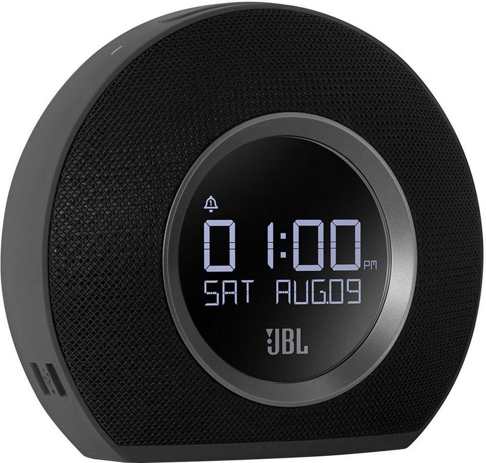 JBL Horizon Uhrenradio Bluetooth 2x USB in schwarz