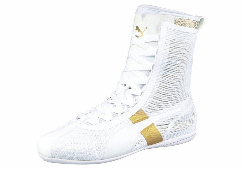 PUMA »Eskiva Hi EVO Wn's« Boxschuh in weiß-goldfarben