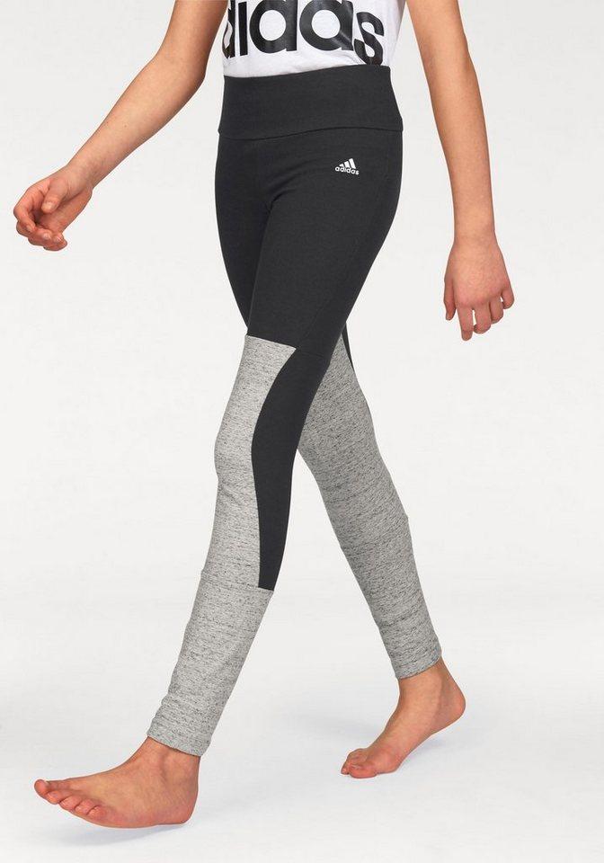 adidas Performance Leggings »ATHLETICS KEY PIECES TIGHT« in schwarz-grau