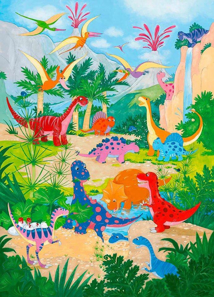 Home affaire Fototapete »Dino Welt«, 183/254 cm in bunt
