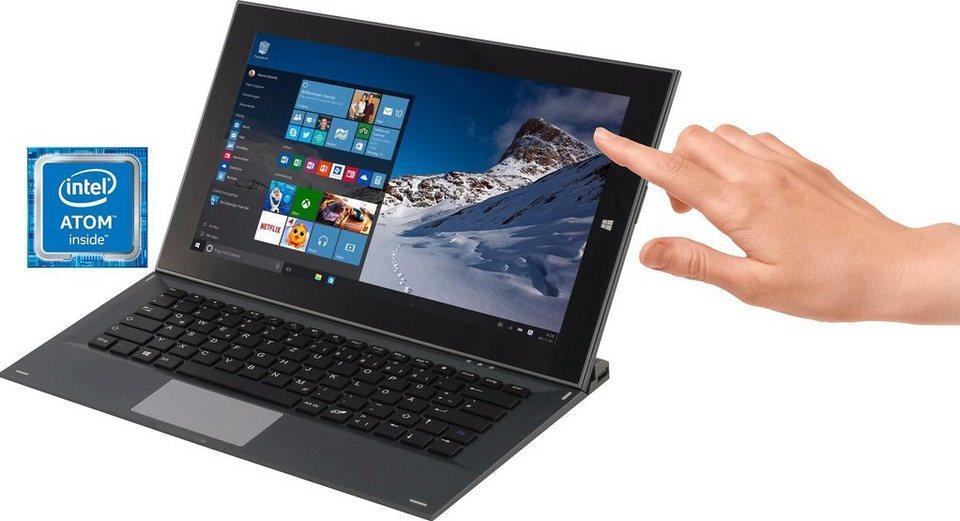 Ionik Global Tab Tablet-PC, Microsoft® Windows® 10 Home, Intel Atom Z3735F, 29,5 cm (11,6 Zoll) in grau
