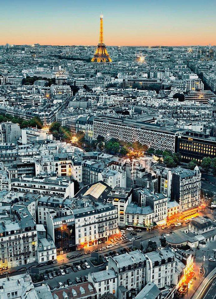 Home affaire Fototapete »Paris-Luftbild«, 183/254 cm in anthrazit