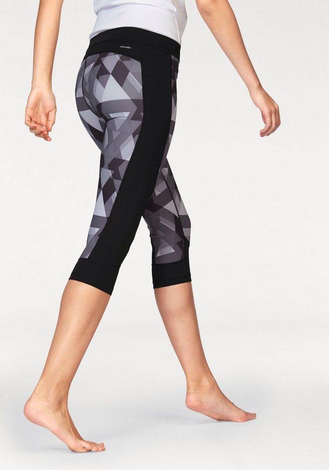 adidas Performance 3/4-Hose »TECHFIT CAPRI« in schwarz-grau