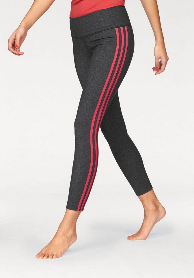 adidas Performance Funktionstights »ESSENTIALS 3S TIGHT« in schwarz-meliert-koralle