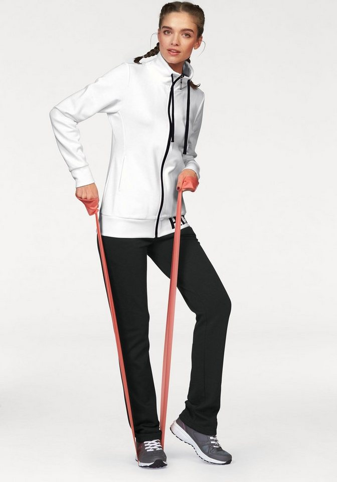 H.I.S Jogginganzug in weiß-schwarz