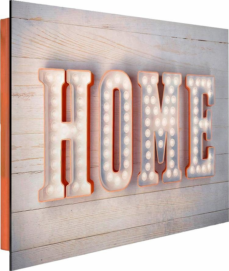 Home affaire Deco Panel »Home«, 90/60 cm in beige