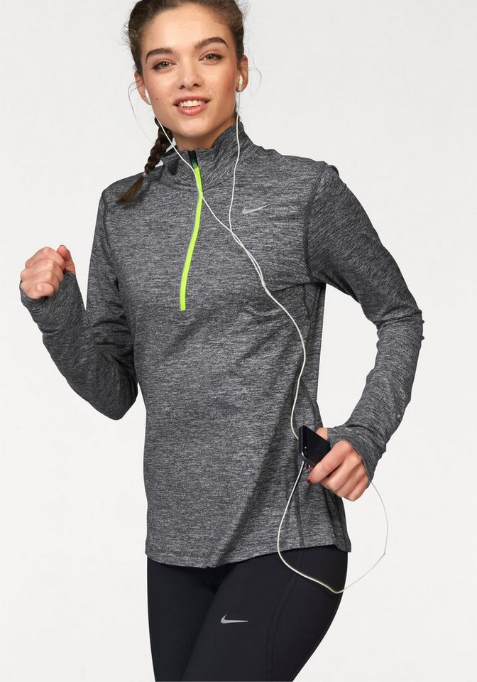 Nike Laufshirt »ELEMENT HALF ZIP« in grau-meliert