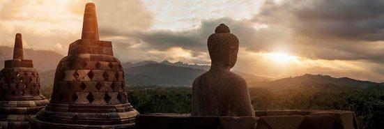 Home affaire Leinwandbild »Borobudur«