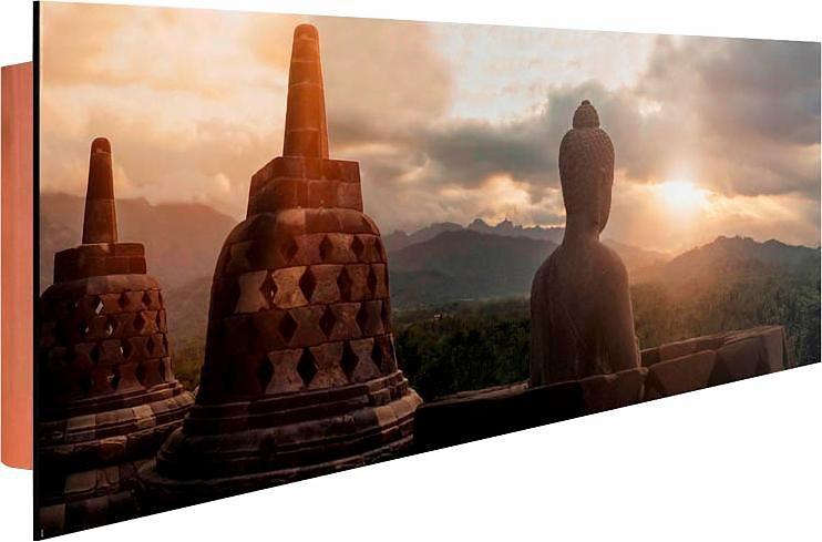 Home affaire Deco Panel »Borobudur«, 156/52 cm in grau