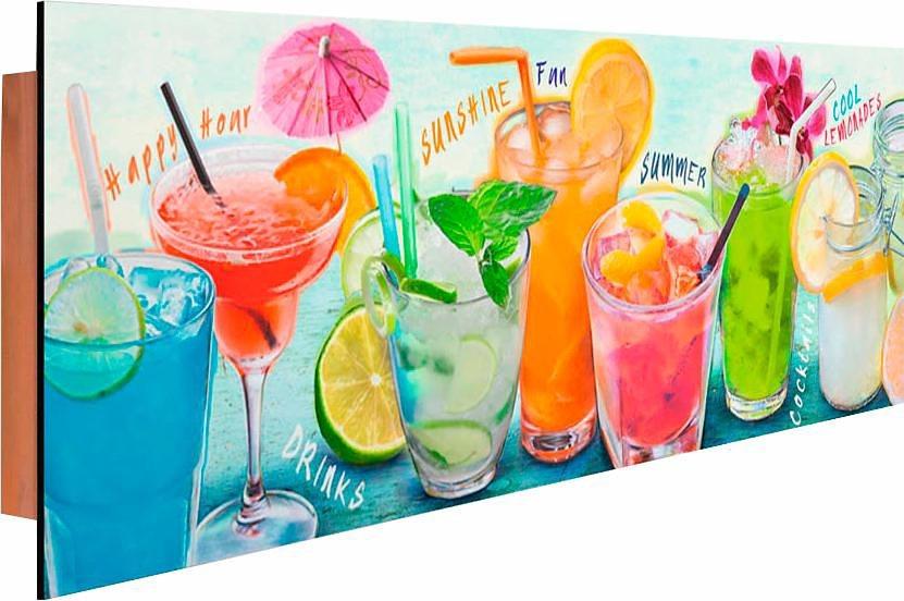 Home affaire Deco Panel »Cocktails III«, 90/30 cm in bunt