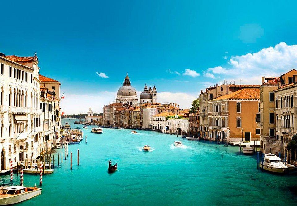 Home affaire Fototapete »Canal Grande, Venedig«, 366/254 cm in blau/beige