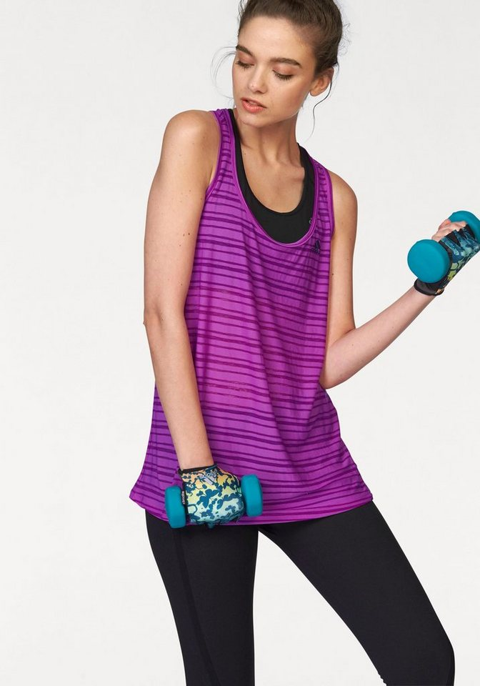 adidas Performance Tanktop »LIGHTWEIGHT TANK« Leicht transparent in lila