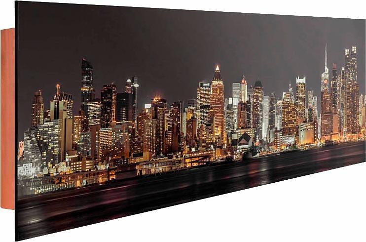 Home affaire Deco Panel »New York«, 156/52 cm in anthrazit