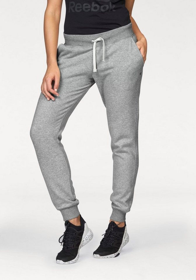 Reebok Jogginghose »Elements Fleece Cuffed Pant« in grau