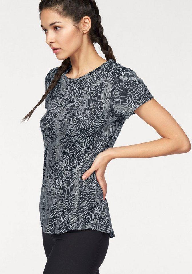 Nike Laufshirt »DRY MILER TOP SHORT SLEEVE PRINT« in schwarz-grau