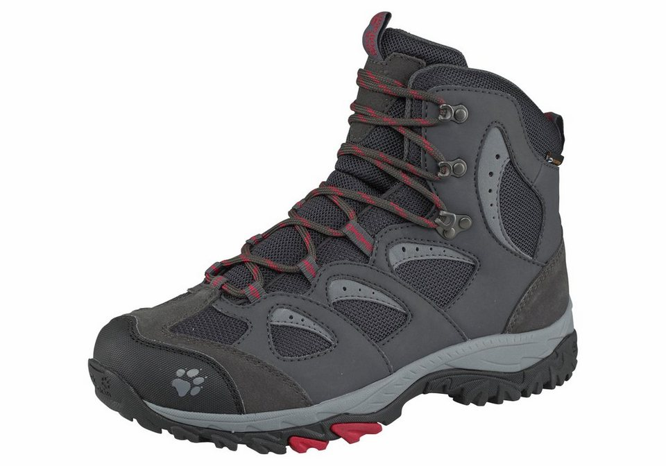 Jack Wolfskin »Mountain Storm Texapore Mid W« Outdoorschuh in anthrazit-rot