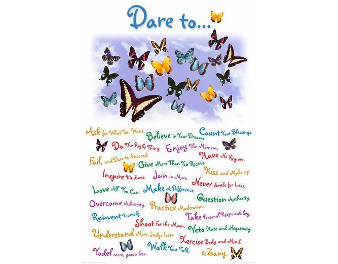 Home affaire Deco Panel »Dare to«, 60/90 cm