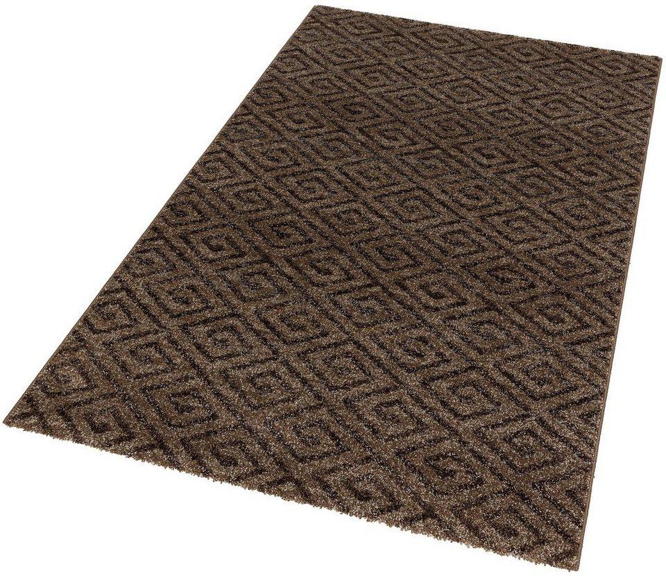 Teppich, Astra, »Carpi Raute«, gewebt, Wunschmaß in braun