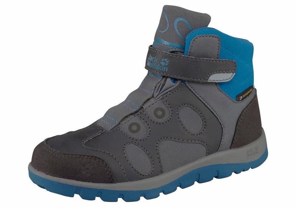 Jack Wolfskin »Providence Texapore Mid Velcro Kids« Outdoorschuh in dunkelgrau-blau