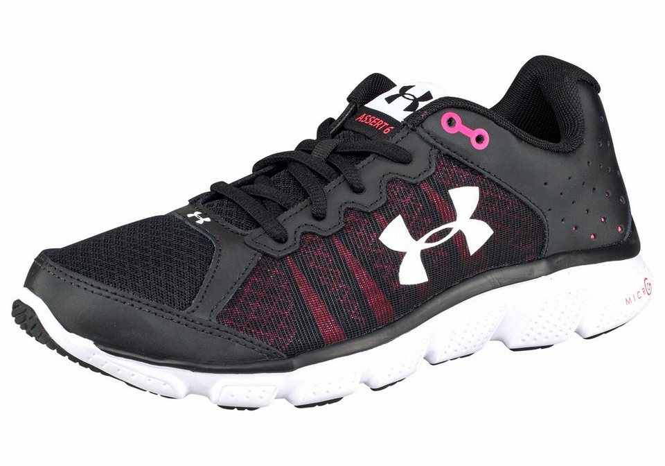 Under Armour® »Women's Micro G Assert 6« Laufschuh in schwarz-pink