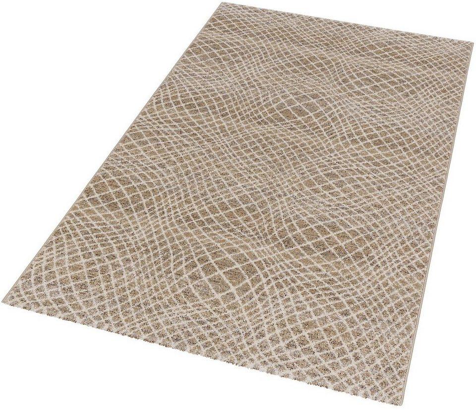 Teppich, Astra, »Carpi Gitter«, gewebt, Wunschmaß in beige