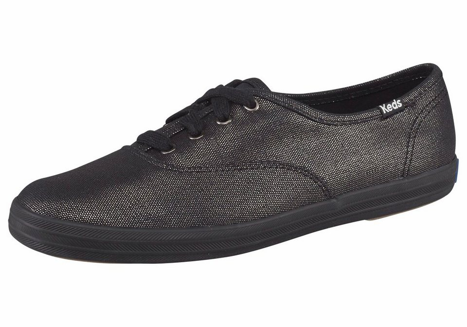 Keds »Champion Metallic Canvas« Sneaker in schwarz-metallisierte Fasern