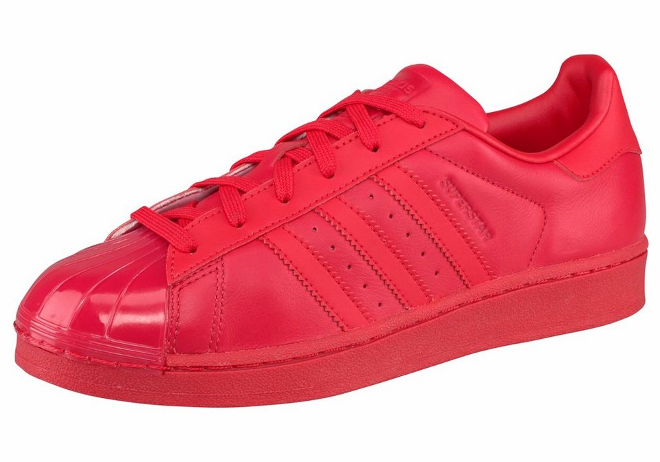 adidas Originals »Superstar Glossy Toe« Sneaker in rot