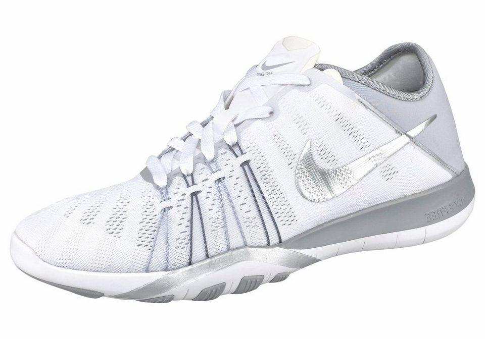 Nike »Free TR 6 Wmns« Fitnessschuh in weiß-silberfarben