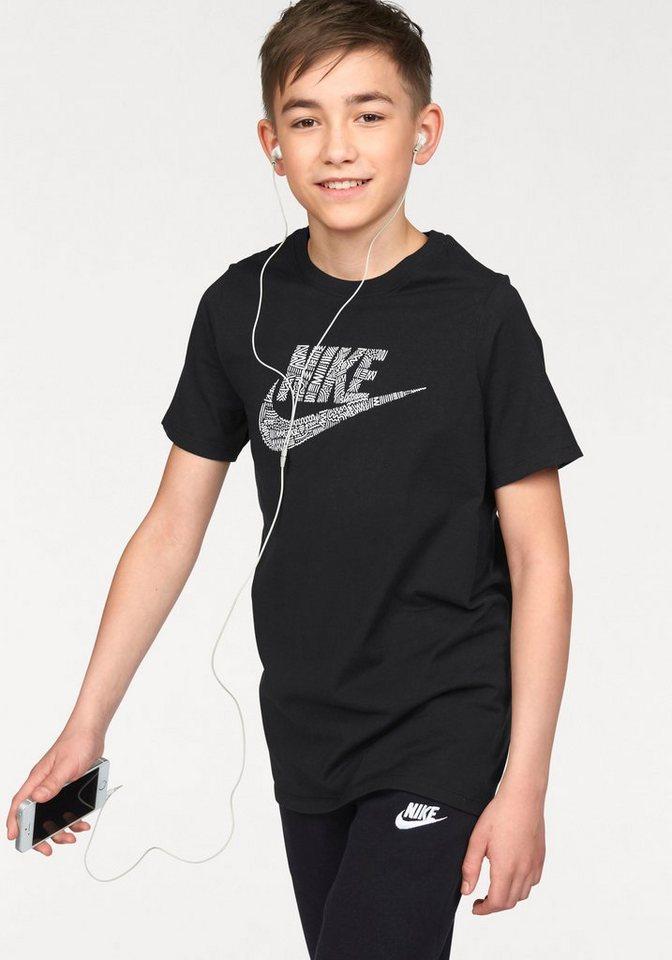 Nike T-Shirt »COTTON NIKE PLAY SKETCH YOUTH« in schwarz