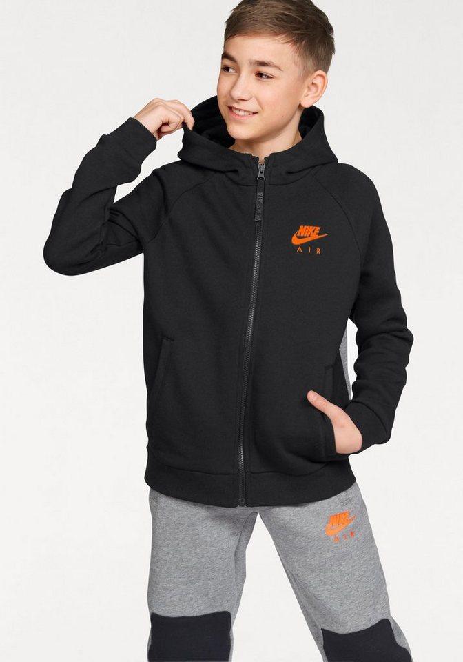 Nike Kapuzensweatjacke »NSW HOODY FULLZIP NIKE AIR« in schwarz-grau