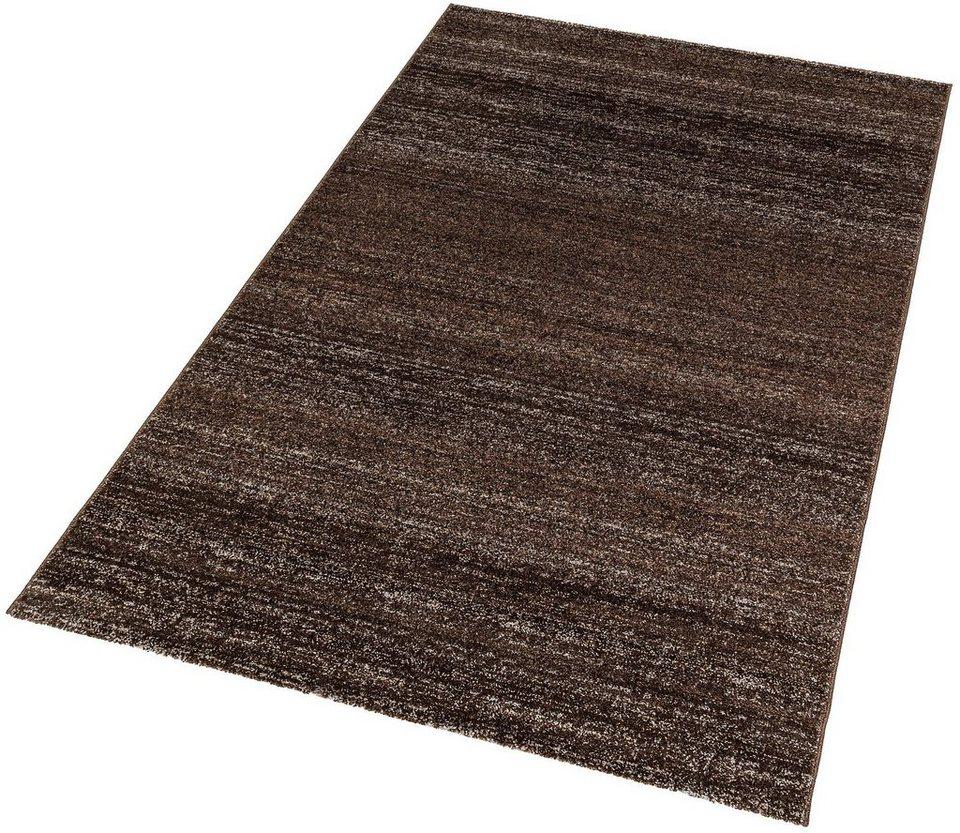 Teppich, Astra, »Carpi Uni«, gewebt, Wunschmaß in dunkelbraun