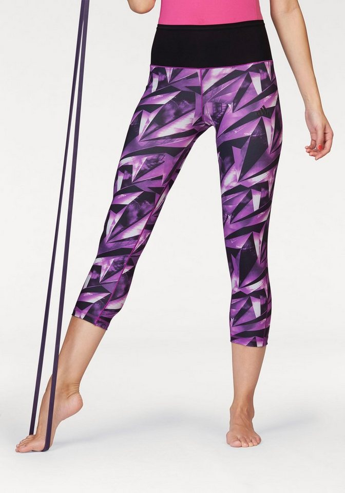 adidas Performance 3/4-Hose »WORKOUT 3/4 HIGH RISE AOP TIGHT« in lila-gemustert
