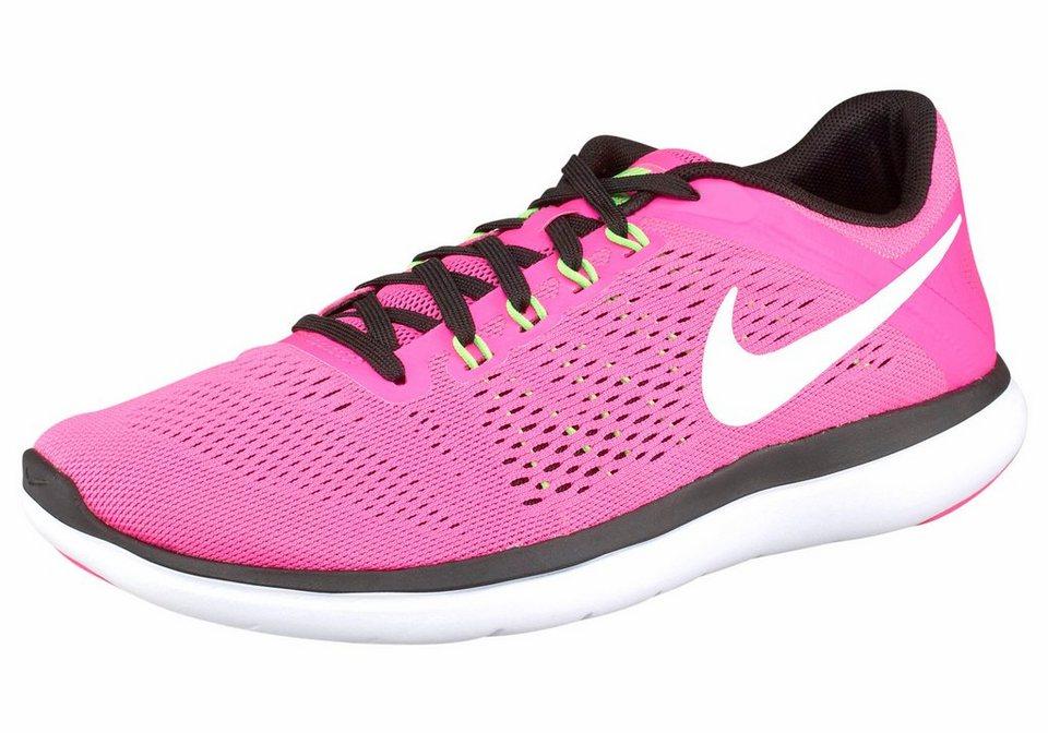 Nike »Flex Run 2016 Wmns« Laufschuh in neonpink-weiß