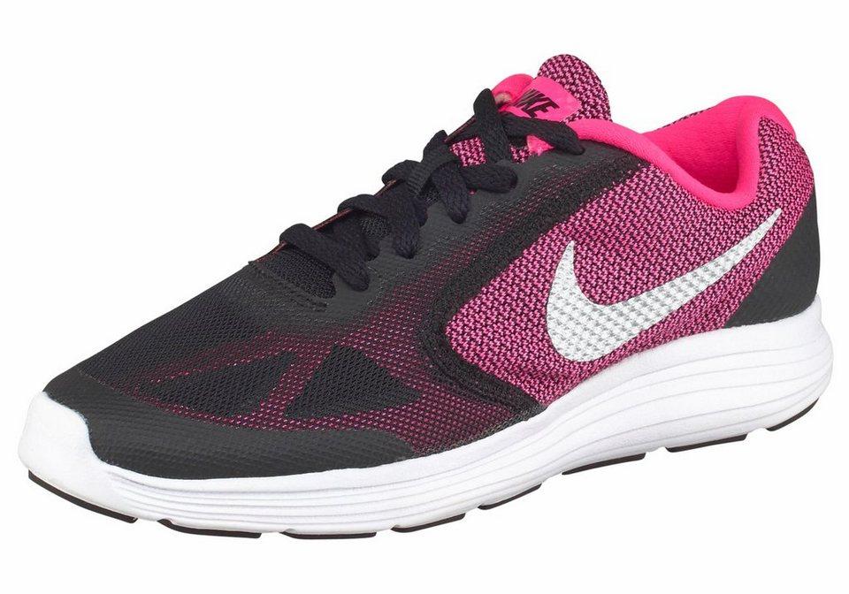 Nike »Revolution 3 GS« Laufschuh in schwarz-pink