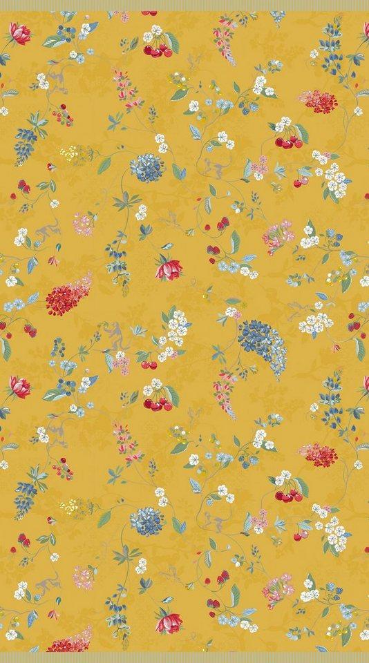 Strandtuch, PiP Studio, »Hummingbirds«, mit Blütenranken in gelb
