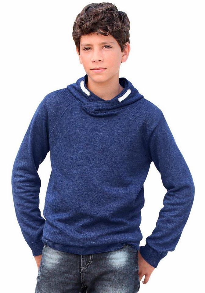 KIDSWORLD Kapuzensweatshirt in royalblau-meliert