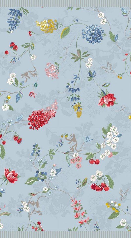 Badetuch, PiP Studio, »Hummingbirds«, mit Blütenranken in blau