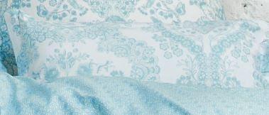 Dekokissen, PiP Studio, »Lacy dutch«, mit Blüten-Ornament in hellblau