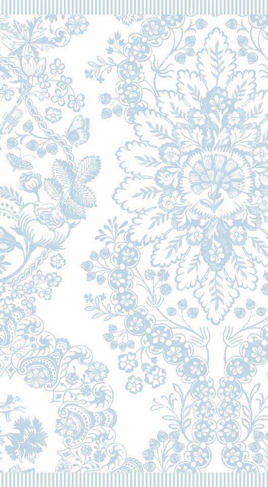Badetuch, PiP Studio, »Lacy dutch«, mit Blüten in hellblau