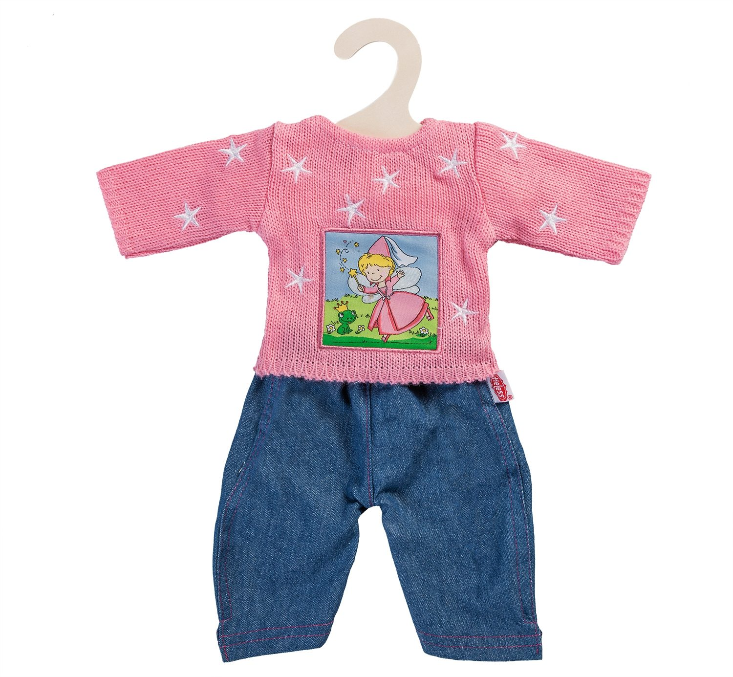 Heless® Puppenkleidung Gr. 35-45 cm, »Pullover rosa mit Jeans« (2tlg.)