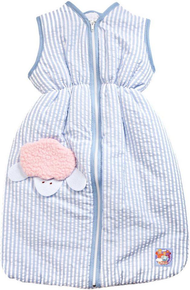 Heless® Puppenzubehör, 37 cm, »Schlafsack blau« in blau