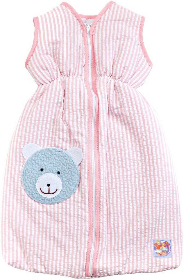 Heless® Puppenzubehör, 27 cm, »Schlafsack rosa« in rosa