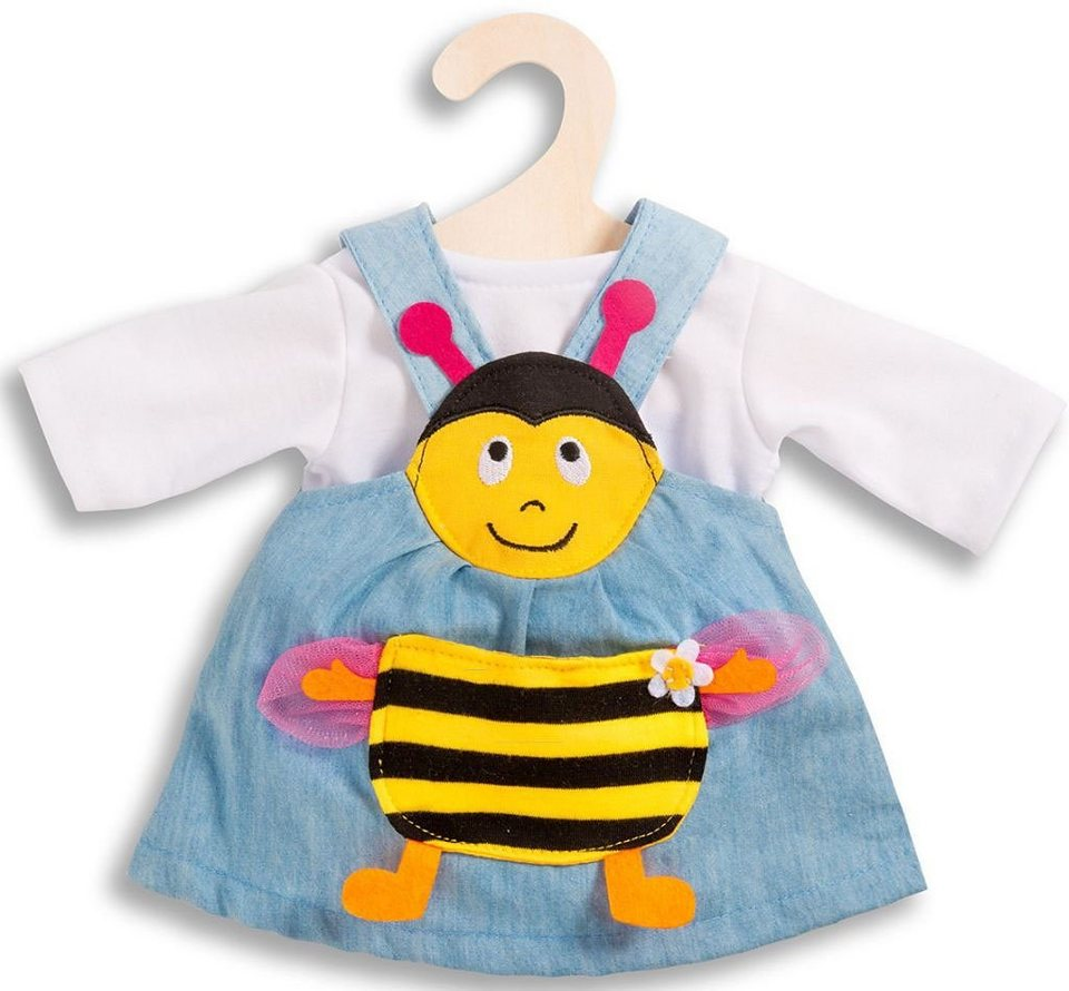 Heless® Puppenkleid für 28-35 o. 35-45 cm, »Bienenkleid« (2tlg.) in braun