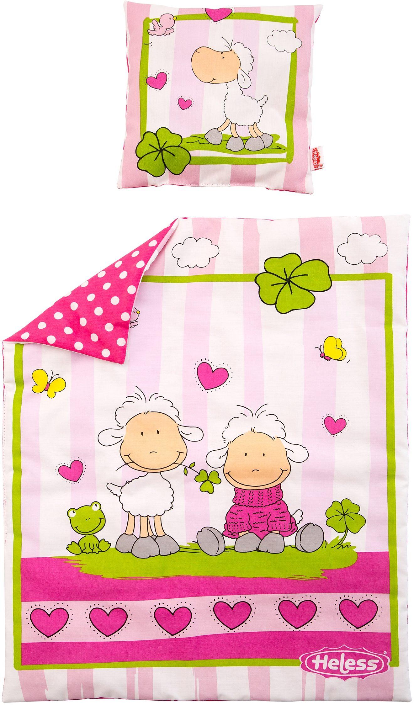 Farbenfrohe Puppenbettwäsche Kissen Bett Puppe neu Puppenwagen Babypuppen & Zubehör