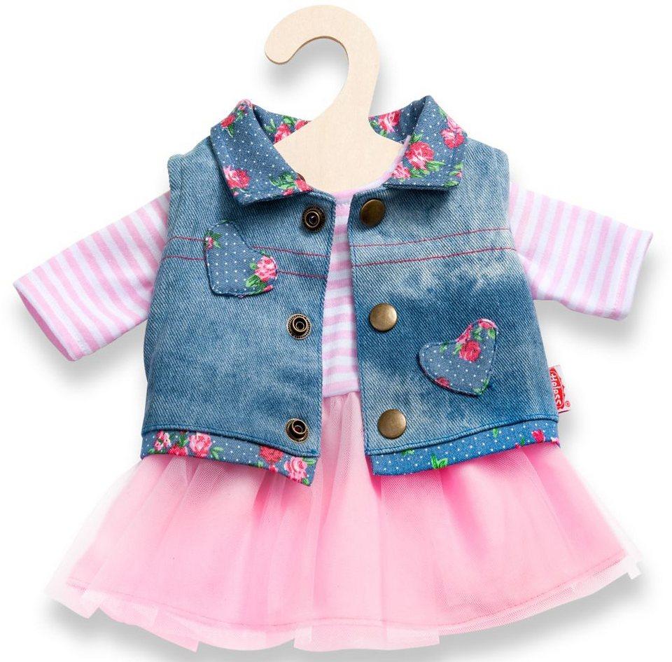 Heless® Puppenkleidung Größe 28-35 o. 35-45 cm, »Tüllkleid mit Jeansweste« (2tlg.)