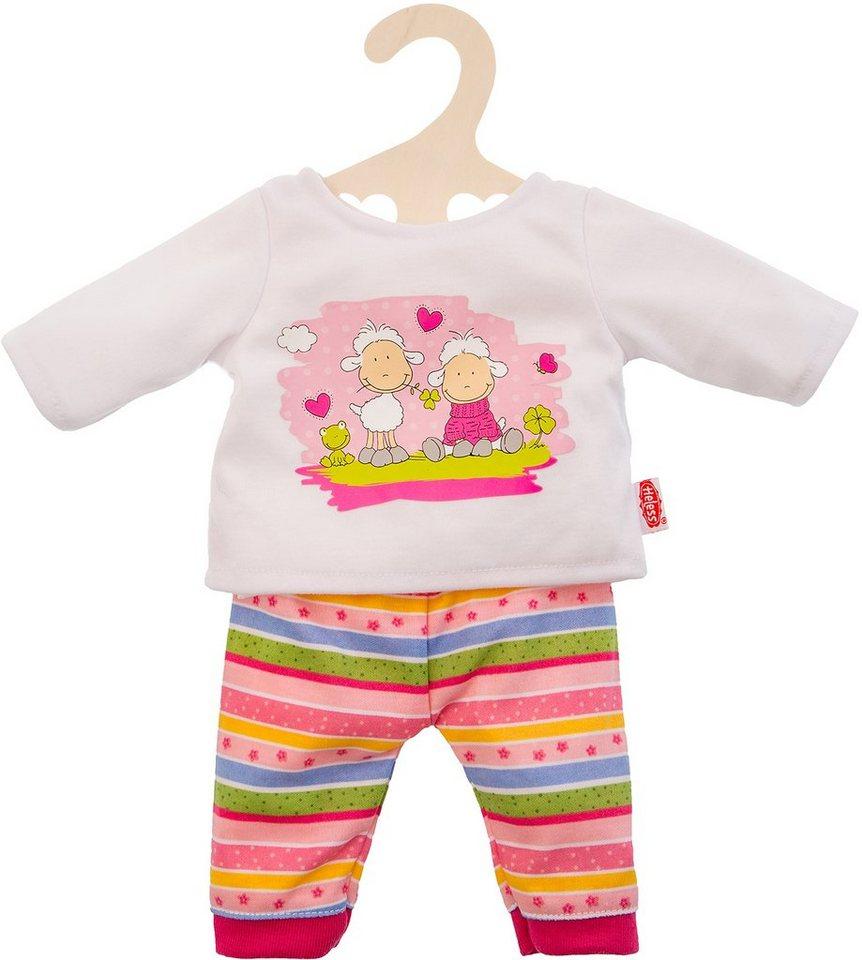 Heless® Puppenpyjama Größe 28-35 cm o. 35-46 cm, »Glücksschäfchen« in braun