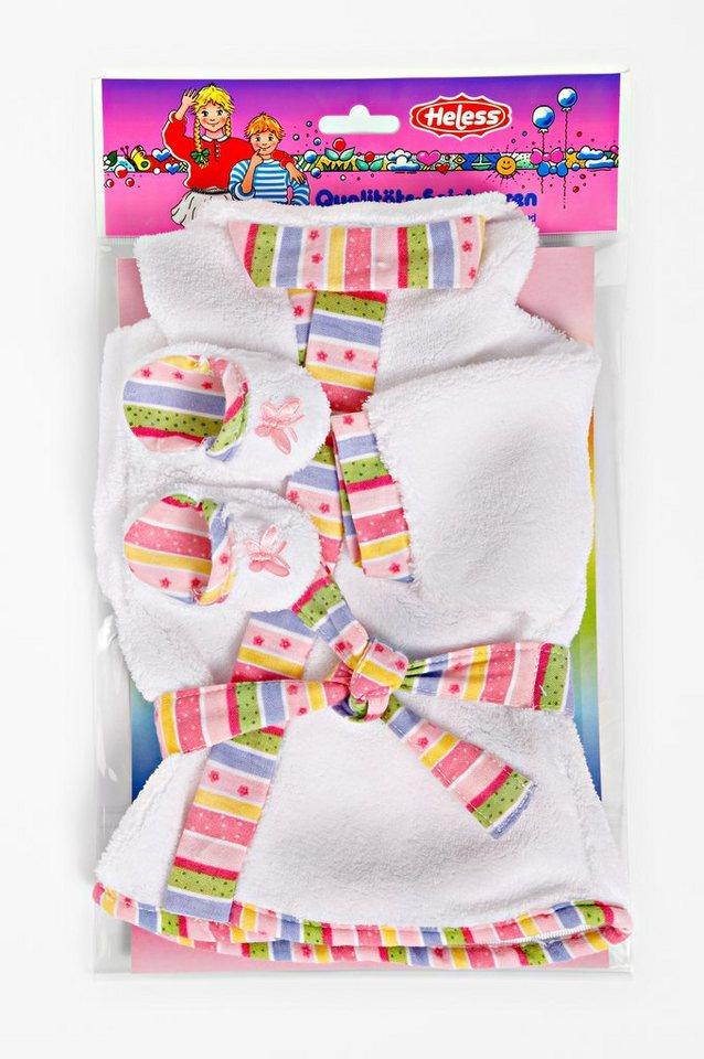 Heless® Puppenkleidung Größe 35-46, »Bademantel mit Pantoletten« (3tlg.)