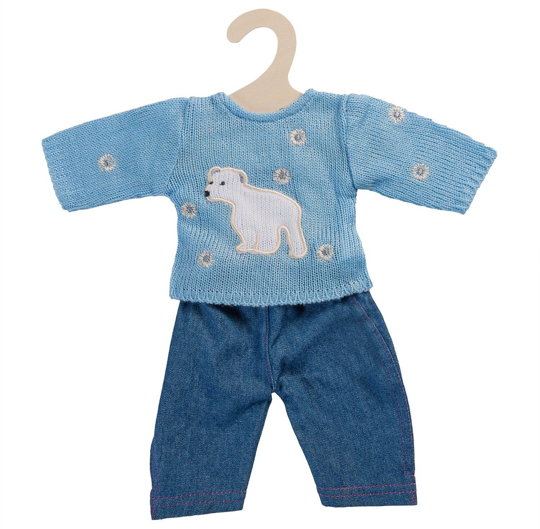 Heless® Puppenkleidung Größe 28-33 cm, »Pullover blau mit Jeans« (2tlg.)