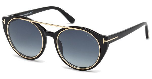 Tom Ford Damen Sonnenbrille »Joan FT0383« in 01W - schwarz/blau