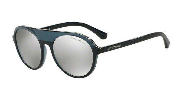 Emporio Armani Herren Sonnenbrille » EA4067« in 55206G - blau/silber